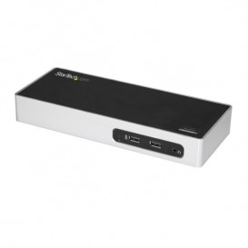Docking Station USB 3.0 para Dos Monitores HDMI y VGA o DVI - Replicador de Puertos USB 3.0 para Ordenador Portátil