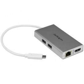 Adaptador USB-C Multifunción para Ordenadores Portátiles - con Entrega de Potencia - 4K HDMI - USB 3.0 - Blanco