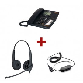 Alcatel Temporis 880 + Auricular Jabra Duo + Cable de conexión