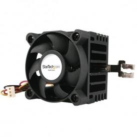 Ventilador para CPU Socket 7/370 de 50x50x41mm con Disipador de Calor y Conectores TX3 y LP4