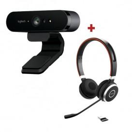 Pack Logitech BRIO Webcam + Jabra Evolve 65 UC