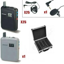 Pack 1 Transmisor WT-300T + 25 Receptores WT-300R