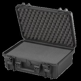 MAX430S Negra - Maleta resistente con espuma