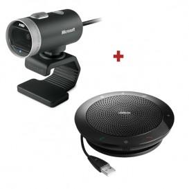 Microsoft Lifecam Cinema Breedbeeld Webcam + Jabra SPEAK 510 Speakerphone