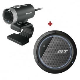 Pack Microsoft Lifecam Webcam + Plantronics Calisto 3200