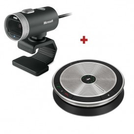 Pack Microsoft Lifecam for Business + Altavoz Sennheiser SP 20 Lync