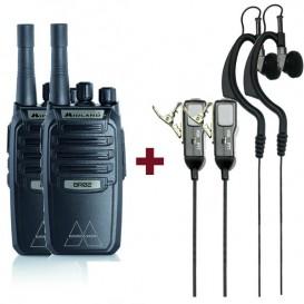 Pack 2 Midland BR-02 con auriculares MA21LKi