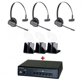 Pack comunicaciones Ligateam + 3 auriculares inalámbricos