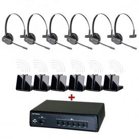 Pack comunicaciones Ligateam + 6 auriculares inalámbricos