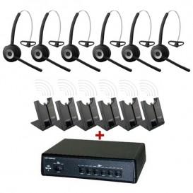 Pack comunicaciones Ligateam + 6 auriculares inalámbricos Jabra 920