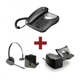 Motorola CT1 Negro + Auricular Plantronics CS540 + Descolgador