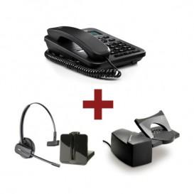 Motorola CT202 Negro + Auricular Plantronics CS540 + Descolgador