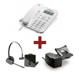 Motorola CT202 Blanco + Auricular Plantronics CS540 + Descolgador