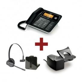 Motorola CT330 + Auricular Plantronics CS540 + Descolgador