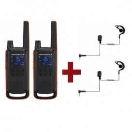 Motorola Talkabout T82 x 2 + Kit Bodyguard x 2