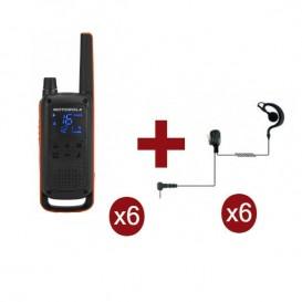 Motorola Talkabout T82 x 6 + Kit Bodyguard x 6