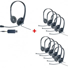Pack 10 auriculares Cleyver HC35
