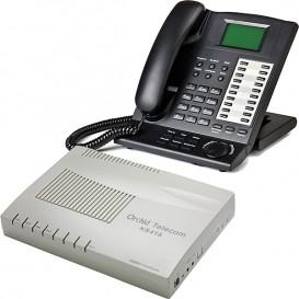 Centralita Orchid telecom KS416 con el tel. KP 416 Operador