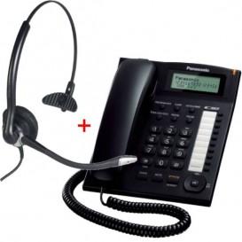 Panasonic KX-TS880 Negro + Cleyver ODHC10 (Jack 2.5 mm)