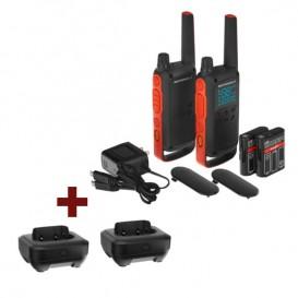 Pack Motorola T82 + 2 bases cargadores