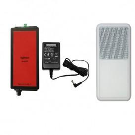 Amplificador, altavoz y alimentación para Ligateam