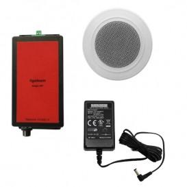 Amplificador, altavoz de techo y alimentación para Ligateam