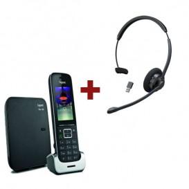 Gigaset SL450 + Auricular Bluetooth Cleyver HW60