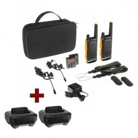 Pack Motorola TLKR T82 Extreme + 2 bases cargadores