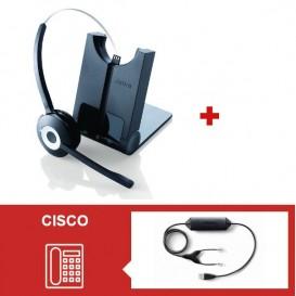 Jabra PRO 920 + Descolgador electrónico USB para Cisco