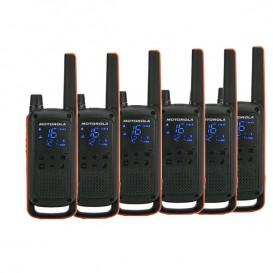 Pack sexteto Motorola Talkabout T82