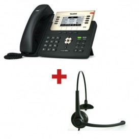Teléfono Yealink + Auricular Freemate