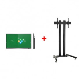 """Pantalla interactiva VSeven de 75"""" con Kit de soporte con ruedas"""