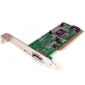 Tarjeta Adaptadora PCI 1 Puerto eSATA 1 Puerto SATA con Bracket de Perfil Bajo Low Profile