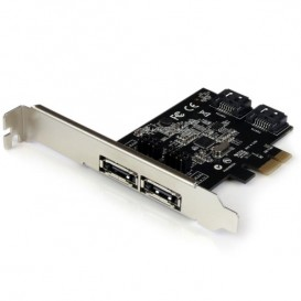 Tarjeta Adaptadora Controladora PCI Express PCIe 2 Puertos eSATA 2 Puertos SATA - SATA III - 6Gbps