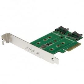 Adattatore SSD M.2 NGFF a 3 porte - 1x M.2 PCIe ( NVMe) , 2x M.2 SATA III M.2 - PCIe 3.0