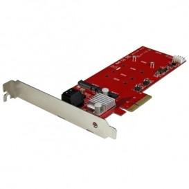 Tarjeta PCI Express Controladora de 2x SSD NGFF M.2 y 2x Puertos SATA III