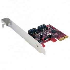 Tarjeta Adaptadora Controladora PCI Express PCIe 2 Puertos SATA Internos - SATA III
