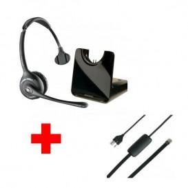 Para teléfonos Siemens profesional: Plantronics CS 510 + Descolgador electrónico APS-11
