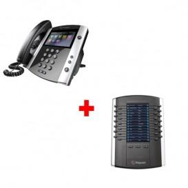 Polycom VVX 600 + Polycom módulo de expansión con pantalla VVX