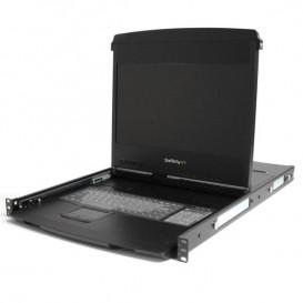 Consola con Rieles Dobles de 1U y Pantalla Ancha de 17 Pulgadas de 1080p para Rack