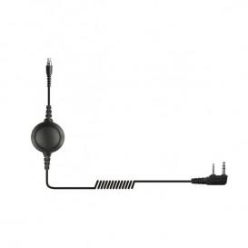 Cable QD con PTT para Motorola 2 pins