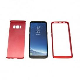 STIKGO Funda 360º para Samsung S8 - Rojo