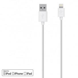 Cable de carga USB a Lightning 1.2 m blanco