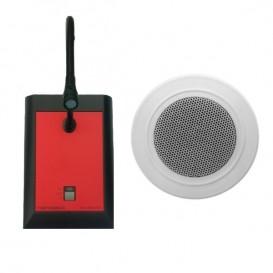 Micrófono de atril y altavoz de techo para Ligateam