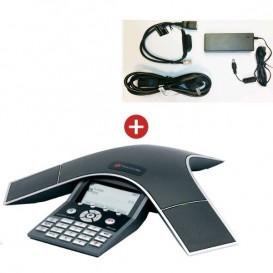 Soundstation IP 7000 POE con su alimentación externa