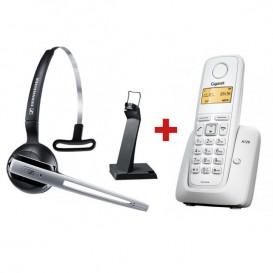 Sennheiser DW Office GAP + Tel. inalámbrico Gigaset A120 Blanco