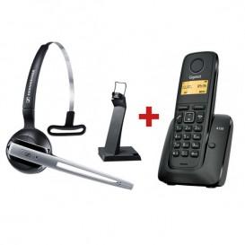 Sennheiser DW Office GAP + Tel. inalámbrico Gigaset A120 Negro