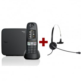Gigaset E630 + auricular Freemate DH011C  (Jack 2.5 mm)