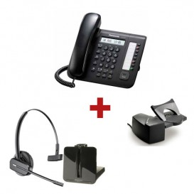 Panasonic KX-DT521 Negro + aur. inalámbrico Plantronics CS540 + Descolgador a distancia Plantronics HL10