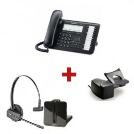 Panasonic KX-DT543 + aur. inalámbrico Plantronics CS540 + Descolgador a distancia Plantronics HL10